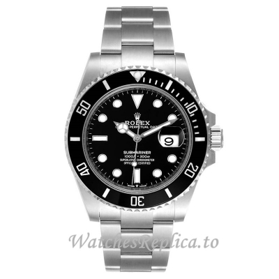 Replica Rolex Submariner Watch Black Dial 126610 40MM