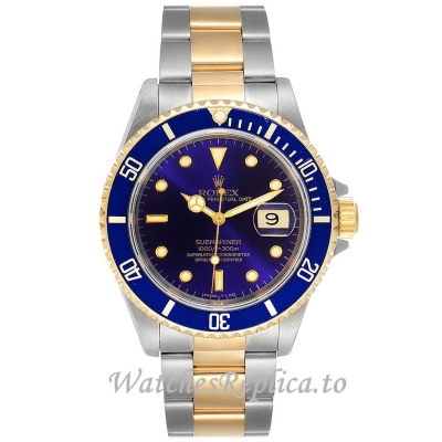 Replica Rolex Submariner Watch Blue Dial 16613 40MM