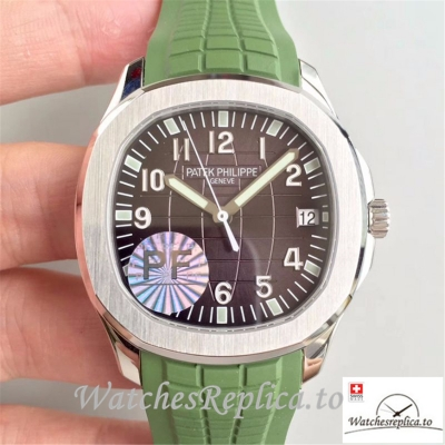 Swiss Patek Philippe Aquanaut Jumbo Replica 5167A-001 001 Green Strap 40.5MM
