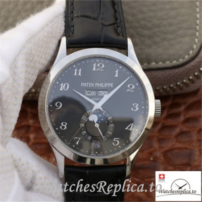 Swiss Patek Philippe Complications Annual Calendar Replica 5396G-014 Black Strap 38MM