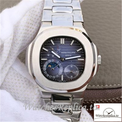 Swiss Patek Philippe Nautilus Moonphas Replica 5712/1A-001 Stainless Steel Bezel 40MM