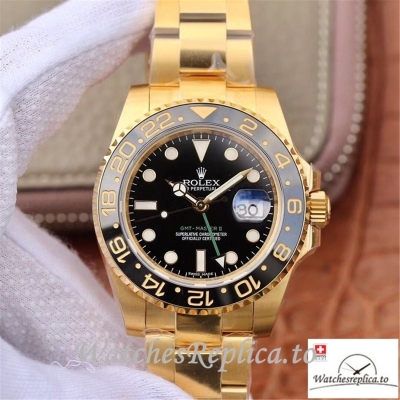 Swiss Rolex GMT Master II Replica 116718 Gold Strap 40MM