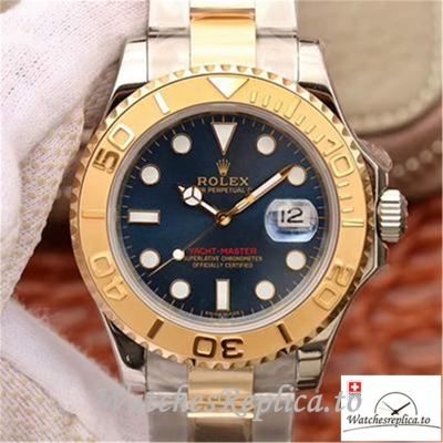 Swiss Rolex Yacht Master Replica 116623 Gold Bezel 40MM