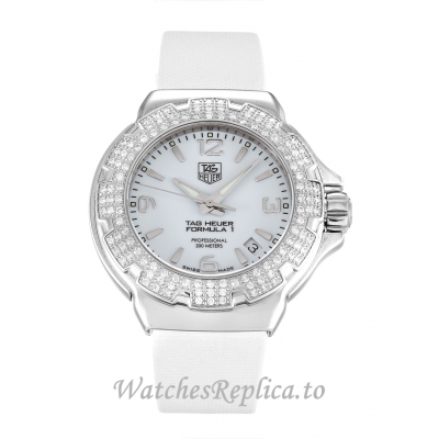 Tag Heuer Formula 1 Mother of Pearl   White Dial WAC1215.BC0840 37 MM