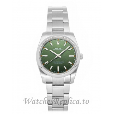 Rolex Replica Oyster Perpetual Green Dial 34mm 114200