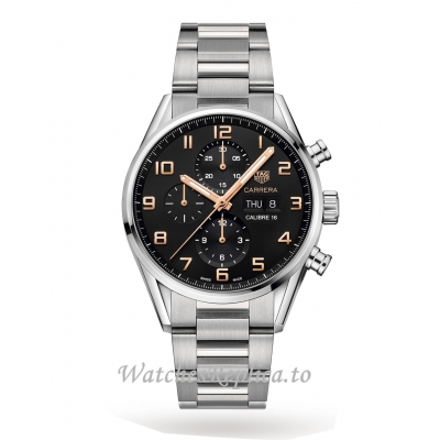 TAG Heuer Replica Carrera Calibre 16 43mm Mens Watch CV2A1AB.BA0738