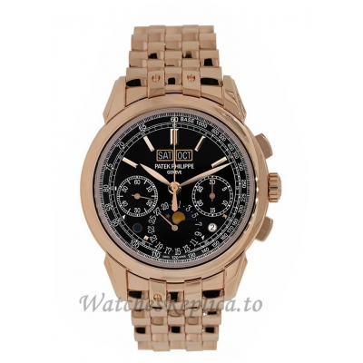 Patek Philippe Replica Grand Complications Rose Gold Chronograph 41MM Watch 527001R001