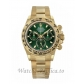 Rolex Replica Cosmograph Daytona Yellow Gold Tachymeter Green Dial 40MM Watch 116508