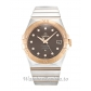 Omega Constellation Chronometer Brown Diamond Dial 123.20.35.20.63.001 35MM