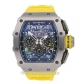 Richard Mille Replica Watch Yellow Rubber Strap RM11-03 50MM